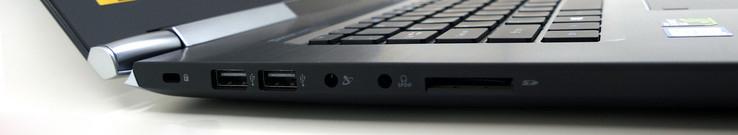 ноутбук Acer VN7-593G порты слева