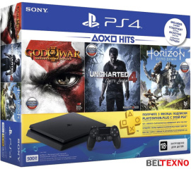 Игровая приставка Sony PlayStation 4 Slim Horizon ZeroDawn+God of War3+Uncharted4 500GB