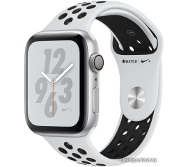 Умные часы Apple Watch Nike+ 44 мм (алюминий серебристый/чистая платина, черный)
