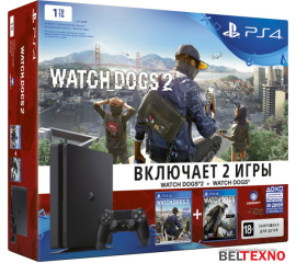 Игровая приставка Sony PlayStation 4 Slim Watch Dogs 2 1TB