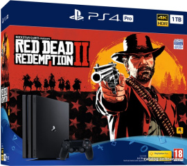 Игровая приставка Sony PlayStation 4 Pro 1TB Red Dead Redemption 2